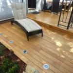 Terrasse aus Edelkastanie mit einer der Robinie vergleichbaren Haltbarkeit