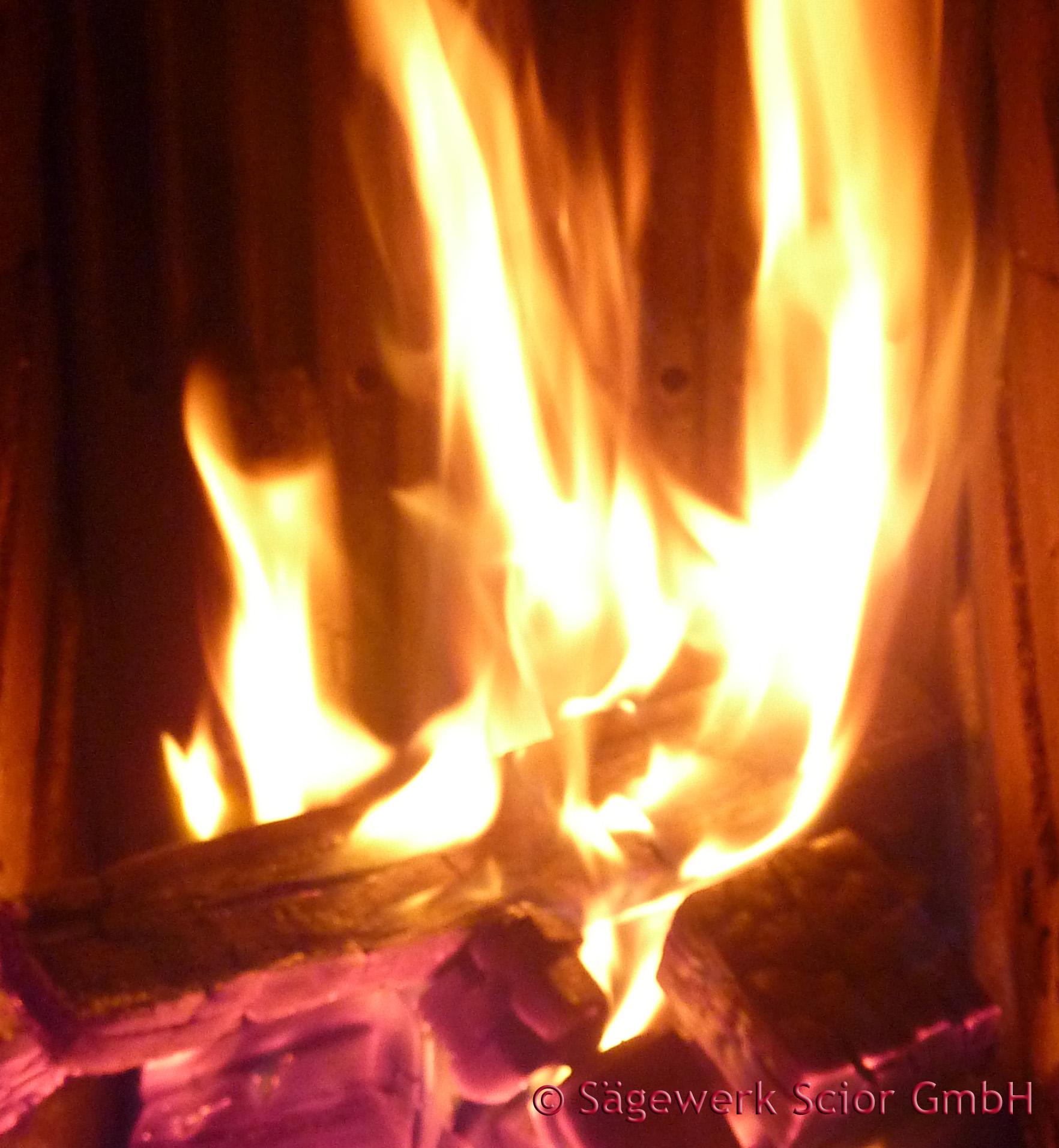 Lebendiges Feuer wärmt Körper und Geist
