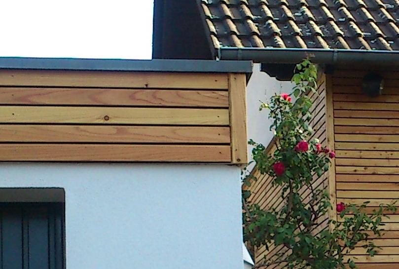 Wandverkleidung Garage : Haus und garage mit rautenfassade lärche u sägewerk scior gmbh